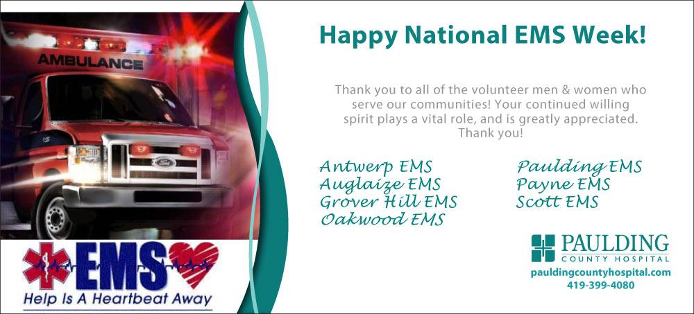 Happy National EMS Week!